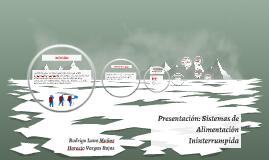 Presentación: Sistemas de Alimentación Ininterrumpida