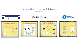 The University of St Andrews: Introduction to Lean for RIE Teams - 15 August 2016 - Victoria University Melbourne