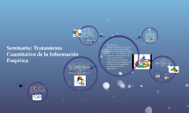 Seminario: Tratamiento Cuantitativo de la Información Empíri