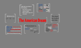 Copy of The American Dream