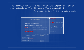 The perception of number from the separability of