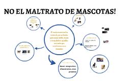 NO EL MALTRATO DE MASCOTAS!