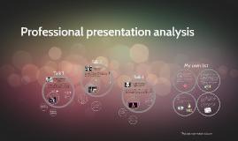 Professional presentation analysis