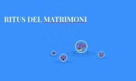 RITUS DEL MATRIMONI