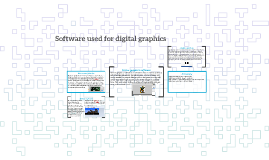 Software used for digital graphics