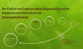 Der Einfluss von Corporate Social Responsibility auf die Unt