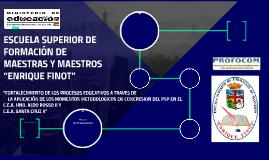 ESCUELA SUPERIOR DE FORMACIÓN DE MAESTRAS Y MAESTROS