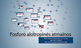 Copy of Fosforo alotropinės atmainos