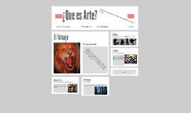 ¿Que es Arte?