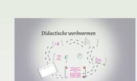 Didactische werkvormen deel 1 - thema 9
