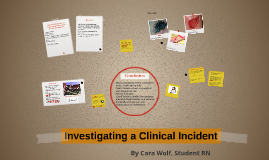 Investigating a Clinical Incident