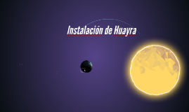 Instalación de Huayra