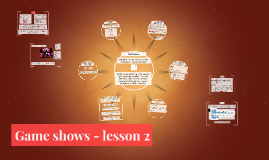 Gameshows - lesson 2