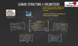LEAGUE STRUCTURE & VOLUNTEERS