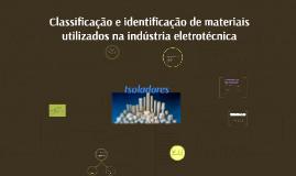 Classificação e identificação de materiais utilizados na ind