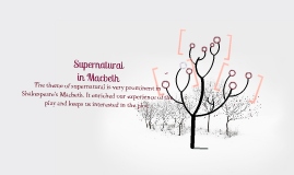 Supernatural in Macbeth