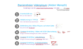 Barrierefreier Videoplayer (AM)