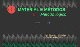 REDAÇÃO CIENTÍFICA: Material e Métodos