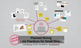 Planned Giving Best Practices for Small Shops