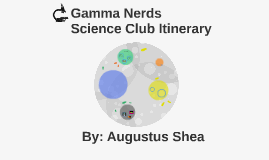 Gamma Nerds Science Club Itinerary