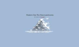 Modern Day Ten Commandments