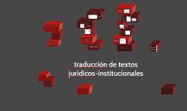 traducción de textos jurídicos-institucionales
