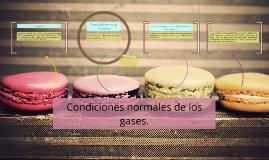 Condiciones normales de los gases.