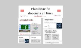 Planificación docencia en línea