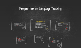 Perspectives on Language Teaching