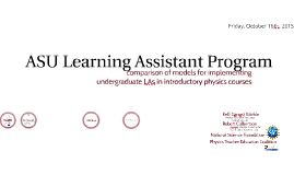 2017 ASU Learning Assistant Program