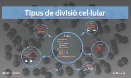 Tipus de divisió cel·lular