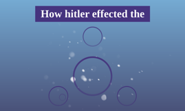 How hitler effected the
