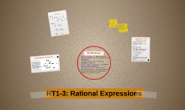 RT1-3: Rational Expressions