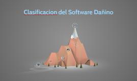 clasificacion del softwere dañino