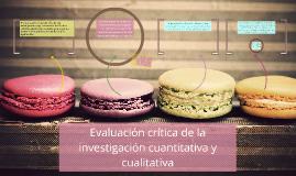 evaluacion critica investigacion cuanticualitativa