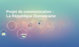 Projet de communication :