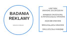 BADANIA REKLAMY