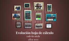 Evolución hoja de cálculo