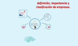Copy of definición, importancia y clasificación de empresas.