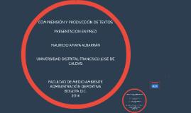 COMPRENSIÓN Y PRODUCCION DE TEXTOS