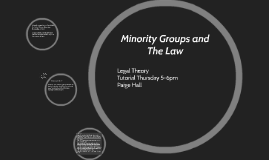 Copy of Minority Groups and The Law