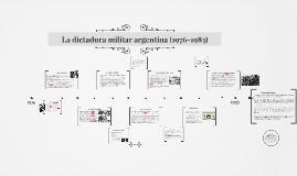 La dictadura militar argentina (1976-1983)