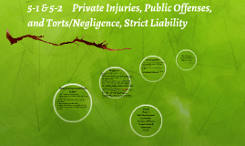 5-1 & 5-2     Private Injuries, Public Offenses, and Torts/N