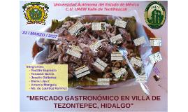 MERCADO GASTRONÓMICO EN VILLA DE TEZONTEPEC, HIDALGO