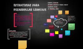 Estrategias para desarrollar lenguage