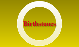 independent project: birthstones