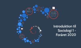 Introduktion til Sociologi - Hold 2