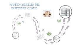 MANEJO CORRECTO DEL EXPEDIENTE CLINICO
