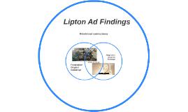 Lipton Ad Findings