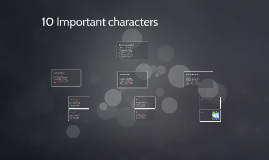 10 Important Characters